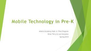 Mobile Technology in Pre-K