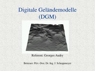 Digitale Geländemodelle (DGM)