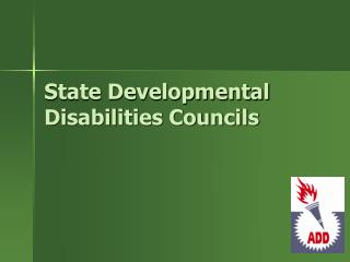 State Developmental Disabilities Councils