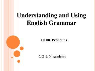 Ch 08. Pronouns