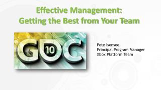 Effective Management: Getting the Best from Your Team