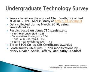 Undergraduate Technology Survey