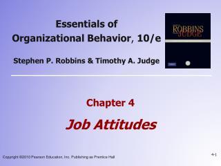 Chapter 4  Job Attitudes