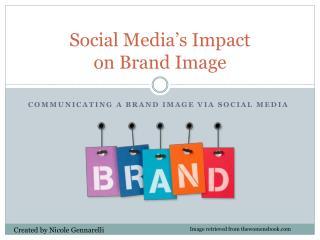 Social Media's Impact  on Brand Image