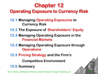 Chapter 11 Managing Operating Exposure to Currency Risk
