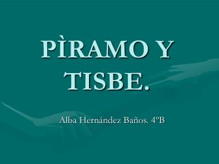 Alba Hernández Baños. 4ºB