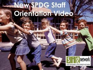 The 2012 SPDG Cohort Kick-off Webinar