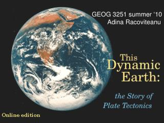 GEOG 3251 summer '10          Adina Racoviteanu