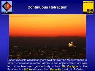 Continuous Refraction