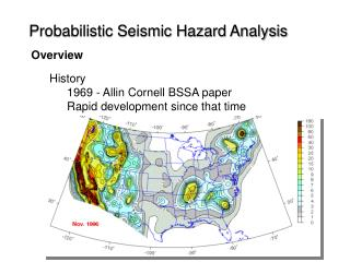Probabilistic Seismic Hazard Analysis