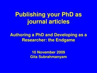 10 November 2009 Gita Subrahmanyam