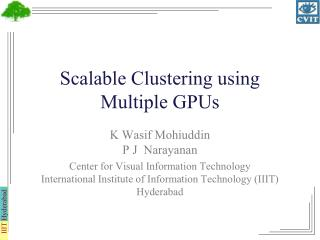 Scalable Clustering using Multiple GPUs