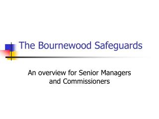 The Bournewood Safeguards
