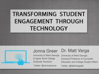 Dr. Matt  Varga University of West Georgia Assistant Professor of Counselor