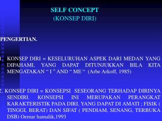 SELF CONCEPT                          (KONSEP DIRI)