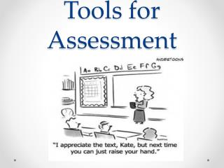 Technology Tools for Assessment