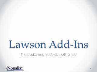 Lawson Add-Ins