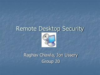 Remote Desktop Security