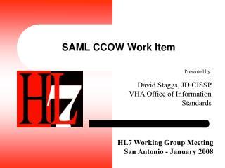 SAML CCOW Work Item
