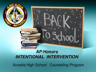 Arcadia High School   Counseling Program