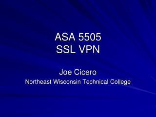 ASA 5505 SSL VPN