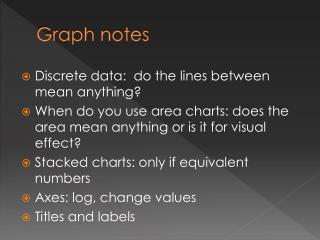 Graph notes