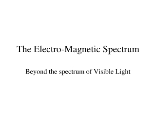 Beyond the Spectrum
