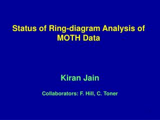 Status of Ring-diagram Analysis of MOTH Data