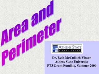 Dr. Beth McCulloch Vinson Athens State University PT3 Grant Funding, Summer 2000