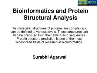 Bioinformatics and Protein Structural Analysis