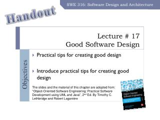 Lecture # 17 Good Software Design
