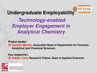 Undergraduate  Employability Technology-enabled  Employer  Engagement in Analytical Chemistry