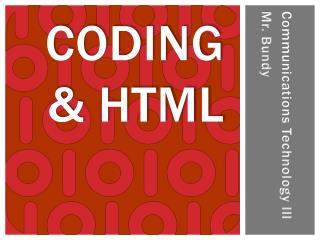 Coding & HTML