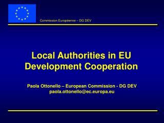 Local Authorities in EU Development Cooperation