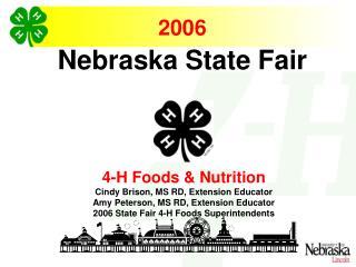 2006 Judges Training - Foods