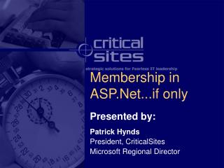 Membership in ASP.Net...if only