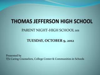 THOMAS JEFFERSON HIGH SCHOOL