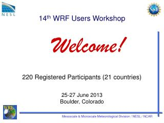 14 th  WRF Users Workshop
