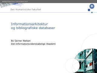 Informationsarkitektur og bibliografiske databaser