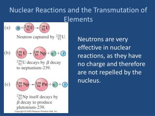 Nuclear  Reactions and the Transmutation of Elements