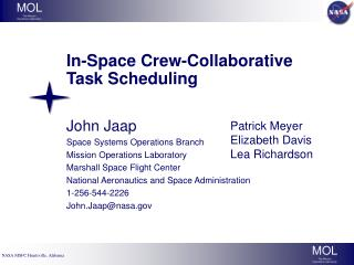 In-Space Crew-Collaborative Task Scheduling