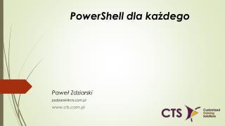 PowerShell dla każdego