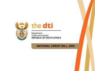 NATIONAL CREDIT BILL, 2005