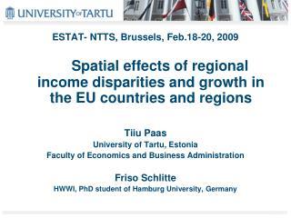 ESTAT- NTTS, Brussels, Feb.18-20, 2009