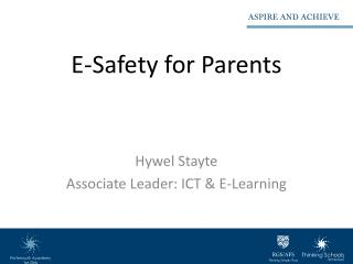 E-Safety for Parents