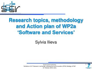 Research topics, methodology and  Action plan of WP2a 'Software and Services'