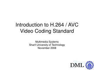 Scope of video coding standardization