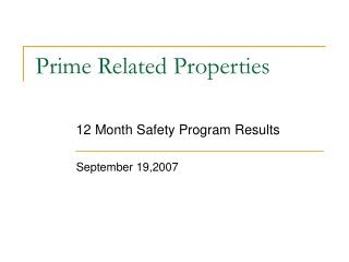 Prime Related Properties