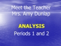 Meet the Teacher Mrs. Amy Dunlap