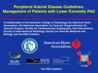 Peripheral Arterial Disease Guidelines:  Management of Patients with Lower Extremity PAD